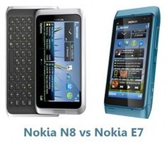 The Nokia N8 vs Nokia E7 are impressive smartphones of the company having great cameras. Find out if the QWERTY keyboard of the E7 can stand strong against the might of the N8 @ http://www.mobilesandtablets.co.uk/nokia-n8-vs-nokia-e7-impressive-phones-from-nokia/