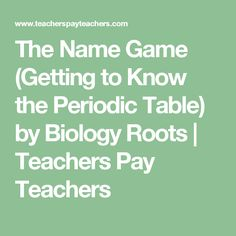 Periodic table of elements chemistry terms domino puzzle the name game getting to know the periodic table by biology roots teachers urtaz Image collections