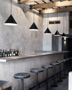 Cement and black steel merge to form the Brutalist interiors of Paradise Sri Lankan restaurant in Soho, London, by Dan Preston Studio. Brutalist Design, Brutalist Buildings, Brewery Restaurant, Restaurant Design, Cafe Interior Design, Interior Architecture, Interior Ideas, Preston, Sri Lanka