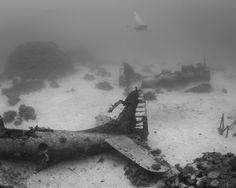 Underwater graveyard full of WWII planes is otherworldly
