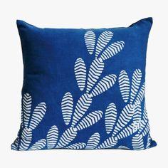 Indigo Cactus Block Print Pillow Cover