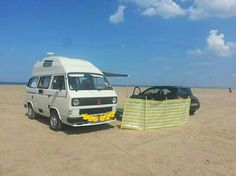 This is Harold, a VW T3 Komet or as some people call it, T25. I love my camper van! Porsche Teledial alloys, full interior retrim in beige an brown leather and matching fiamma awning.