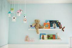 hanging bookshelves for upper bunk bedside table