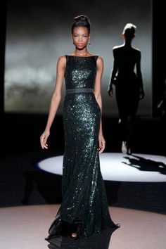 Sequin Tulle Combo Gown from Badgley Mischka Fall 2013 Formal Evening Dresses, Formal Gowns, Evening Gowns, Formal Wear, Party Frocks, Gala Dresses, Tulle Gown, Badgley Mischka, Ladies Dress Design