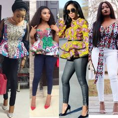 See ankara mixed with jeans styles for guys and ladies, ankara and jeans suit fashion styles, jeans with ankara patches, latest jeans gown styles, couples fashion style Latest African Fashion Dresses, African Print Fashion, Stylish Jeans Top, Jeans Gown, African Print Jumpsuit, Ankara Short Gown Styles, Fashion Outfits, Suit Fashion, Fashion Styles