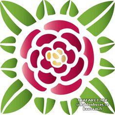 Jugend ruusu 761 | sabluuna monenlaiseen sisustukseen - Jugend eli art nouveau ruusukuvio. | sisustus, koristeluun ja maalaus : sabluunat, sabloni, sapluunat