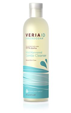 Mild Mannered Gentle Gel Cleanser for Combination or sensitive skin | PITTA dosha | Veria ID