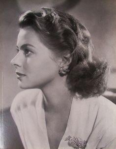 Fotografia - Ingrid Bergman - encarte da filmografia Folha de S.Paulo - 30 X 23 cm