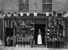 The Face of Shrewsburys Trade: Amazing Vintage Photographs Captured Shropshire Shop Fronts in 1888 - retro pin Shop Doors, Shop Fronts, British History, Asian History, Tudor History, Old London, Victorian Era, Victorian Street, Edwardian Era