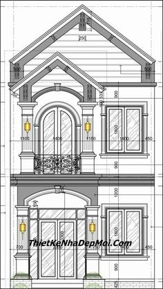 Classic House Exterior, Classic House Design, House Front Design, Plans Architecture, Architecture Details, Latest House Designs, Duplex House Plans, Little Houses, Minimalist Home