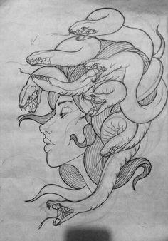 - art - Tattoo Designs For Women Tattoo Sketches, Tattoo Drawings, Drawing Sketches, Body Art Tattoos, Sleeve Tattoos, Art Drawings, Medusa Tattoo Design, Tattoo Designs, Tattoo Ideas
