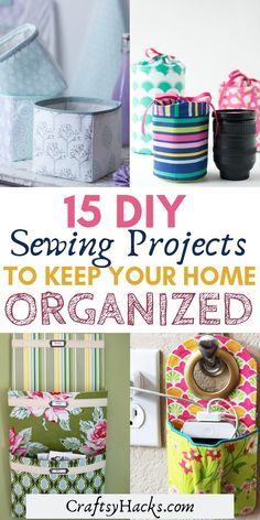 Try these diy sewing projects and make your own diy organizers. Design home and try these organization hacks to keep it clutter free. #diy #diyprojects #sewing