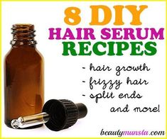8 Best DIY Hair Serum Recipes for All Hair Types + More| Homemade & All-Natural - beautymunsta - free natural beauty hacks and more!