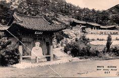 White Buddha, Bodogak Hall, Seoul, South Korea in 1950s