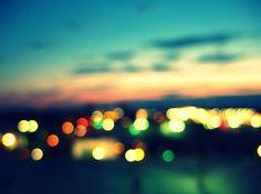 BLUR CITY LIGHTS EVENING