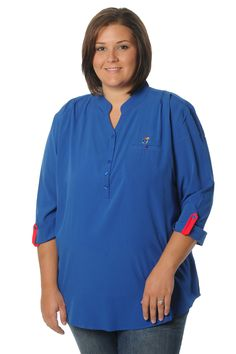 Plus Size Kansas Jayhawks Roll-Up Tunic