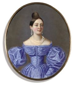 ca. 1835 Lady, said to be a member of the Olenin family by ? (Christie's) | Grand Ladies | gogm