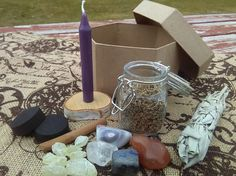 SALE ON ALL LOOSE INCENSE CHARCOAL TABS AND CANDLES Purple Chime Candle Spell with Binding Incense For Psychic Ability, Idealism, Spiritual Powers. KiT Purple Chime Candle Spell with Binding Incense For Psychic Ability, Idealism, Spiritual Powers. Kit comes with a chime candle about 4 inches long, with a blend of my handmade loose incense of Mugwort, Lavender buds, and some other special elements. Three charcoal disks and the small jar of incense come altogether here. All the necessities are…