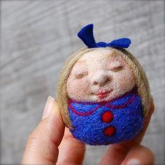 little Girl Wool Egg Doll by asherjasper, via Flickr