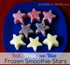 Come Together Kids: Red, White & Blue Frozen Smoothie Stars