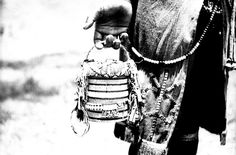beaded billy can belonging to a betrothed (ikhehli) Ngwane girl, Hoffenthal, Bergville district, KwaZulu-Natal, South Africa