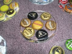 bottle cap resin coasters, great for a craft beer drinker!