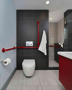 New Post Black And Red Bathroom