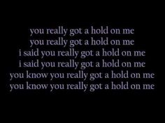 """▶ """"You Really Got a Hold on Me"""" by Smokey Robinson & The Miracles lyrics"""