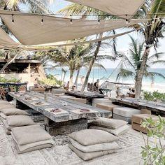 Paulina Arcklin (@paulinaarcklin) • Instagram photos and videos Tulum Beach, Caribbean, Paradise, Relax, Instagram, Restaurant, Popular, Table Decorations, Vacation