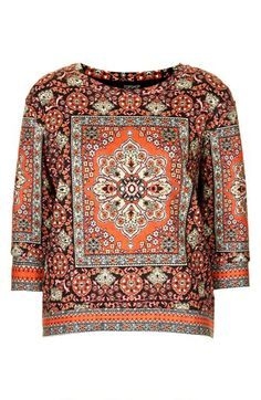 Topshop Print Jersey Sweater