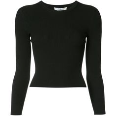 Tibi Seamless Rib Corset Sweater ($414) ❤ liked on Polyvore featuring tops, sweaters, black, seamless corset, tibi sweater, ribbed long sleeve top, rib top and ribbed sweater