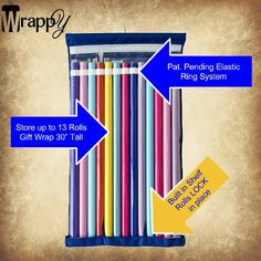 Gift Wrap Storage at