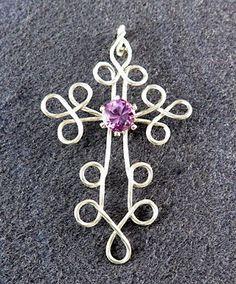 Best Collection of Rings - Jewelry Daze Cross Jewelry, Metal Jewelry, Wire Crafts, Jewelry Crafts, Jewelry Ideas, Bijoux Fil Aluminium, Wire Jewelry Designs, Beaded Cross, Wire Pendant