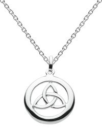 Kit Heath Sterling Silver Inner Trinity Knot Necklace