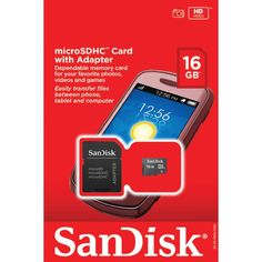 Sandisk Sdsdq-016G-A46A Microsdhc(Tm) Card With Sd(Tm) Adapter (16Gb)