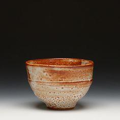 Warren MacKenzie. stoneware yunomi with waxy shino glaze