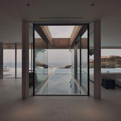 """livingpursuit: """"Haus in Aiguablava von MANO Arquitectura"""" - Architektur Haus - Moderne Häuser Design Exterior, Interior Exterior, Architecture Design, Residential Architecture, Amazing Architecture, Pool Designs, My Dream Home, Outdoor Spaces, Outdoor Pool"""