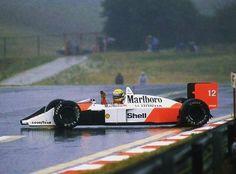 Drifting in the rain!  #AyrtonSenna - #MarlboroMcLaren / #Hungary 1988 #ORei #Drifting #Rain #Mclaren #Marlboro #Hungaroring #1988 #F1 #Formula1 #Aboutmotorsport #GP #Race #GrandPrix #Legend #History #Car #Fast #Speed #Idol #Sport
