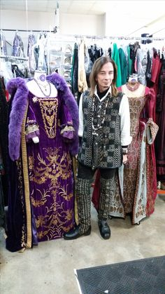 The amazing designer for Salem,Joseph Porro. Period Corsets made countless bodices for this show, including these two he's posed with. Shot in their workroom on Salem 2015