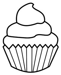 Image result for cupcake clipart outline