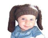 BASSET HOUND II Hand Knit Hat 3-6 months Boutique Baby Spring Photo Prop