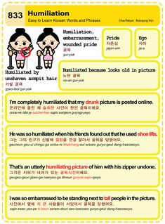 Easy to Learn Korean 833 - Humiliation  Chad Meyer and Moon-Jung Kim  EasyToLearnKorean.com