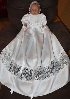 christening down nr 176 from satin and lace Girls Dresses, Flower Girl Dresses, Christening Gowns, Satin, Wedding Dresses, Lace, Design, Fashion, Dresses Of Girls