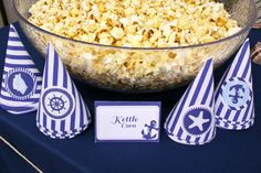 Classy Nautical Party Printable Food Tent Cards in by HelloBrielle