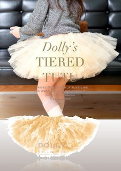 DOLLY by Le Petit Tom ® TIERED TUTU gold