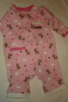 5d7f9c5dc DIY  Footed Baby Sleepers into Creepers Rompers