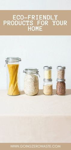 Having a more eco-friendly household doesn't have to be a scary task! It is easy to start small with simple swaps around the house. I have rounded up an ultimate list of easy swaps you can make to integrate more eco-friendly items into your home! Sustainable Food, Sustainable Living, Homemade Tahini, Mean Green, Pantry Essentials, Pickle Jars, Living At Home, Green Cleaning, Zero Waste
