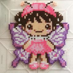 Fairy perler beads by ameliaswreathsofjoy - Pattern: https://de.pinterest.com/pin/374291419007768977/