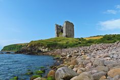 An poster sized print, approx (other products available) - Minard Castle ruin County Kerry Ireland - Image supplied by Fine Art Storehouse - Poster printed in the USA Fine Art Prints, Framed Prints, Canvas Prints, Castles In Ireland, Castle Ruins, Thing 1, Poster Size Prints, Photo Mugs, Travel Destinations