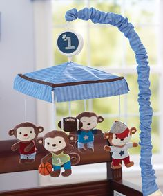 Love this Summer Infant Team Monkey Musical Crib Mobile by Summer Infant on #zulily! #zulilyfinds